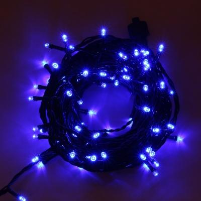 [은하수] 100구 녹색선 LED 남색 지니전구(10M) (전원