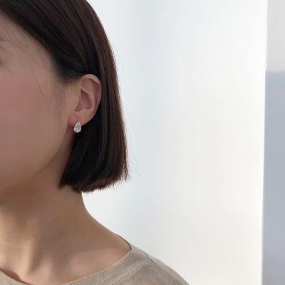 14K 물방울 큐빅 원터치 귀걸이