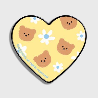 Dot flower bear-yellow(하트톡)