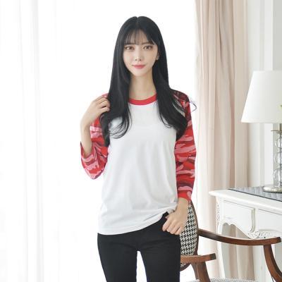 카모 밀리터리 7부 래글런 티 (5 colors) 티셔츠