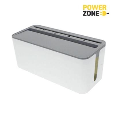 [파워존] 케이블박스 멀티탭전선/중형/그레이화이트