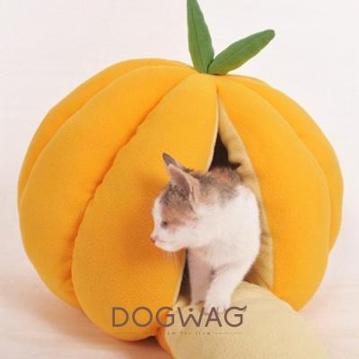 [도그웨그 DOGWAG] 강아지&고양이 과일모양 숨숨집 복숭아 귤 호박 하우스