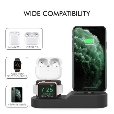 아이노비아 아이폰 에어팟 애플워치 3in1충전 거치대