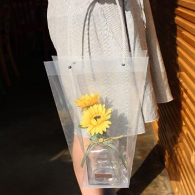꽃선물 포장 사다리꼴 투명 플라워 비닐 쇼핑백