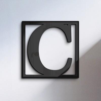 [영문이니셜 아크릴조각액자] crop-003_C