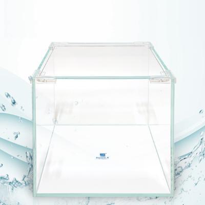 크리스탈 디아망유리 정사각형 어항 25x25x25 두께5mm