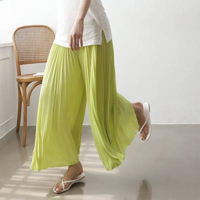 Super Pleatd Wide Pants - 치마바지
