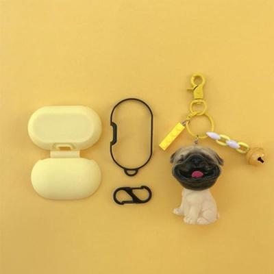 갤럭시버즈/플러스 강아지 키링 젤리케이스_퍼그 GB22