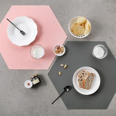 [N365] 실리콘 엠보 헥사곤 테이블매트