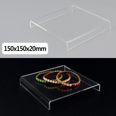 정사각 ㄷ형 아크릴 진열대 150x150x20mm 진열대 제품