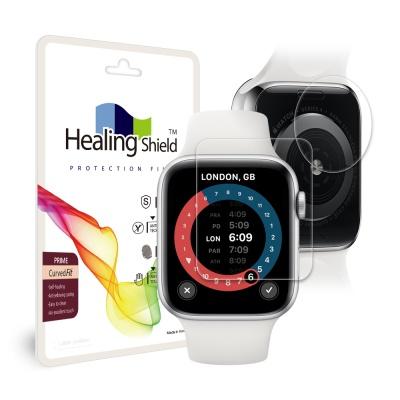 애플워치SE 44mm 프라임 고광택 액정2매 심박센서 2매