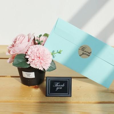 핑크로즈&비누꽃 미니화분 GIFT SET(용돈봉투+카드)