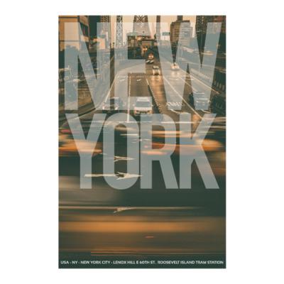 왈가닥스 타이포그래피 포스트카드 엽서 - new york