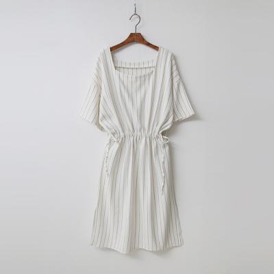 Linen Cotton Stripe Dress