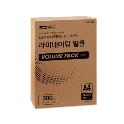 라미에이스 VOLUME PACK 코팅필름 100MIC A4(300매)