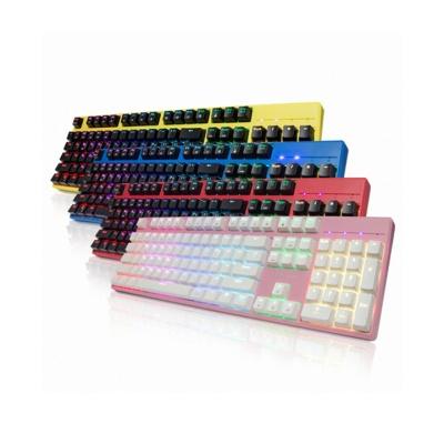 한성컴퓨터 GTune 컬러풀 기계식 청축키보드 MKF9 XRGB YOUR COLOR (커스터마이징 백라이트 / 오테무청축 / 멀티미디어 키)