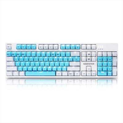 GEEKSTAR 카일 광축 크리스탈 키캡 LED 게이밍 키보드 GK802