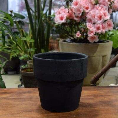 빈티지 블랙 베이직 정원형 토분 D17 17x17cm