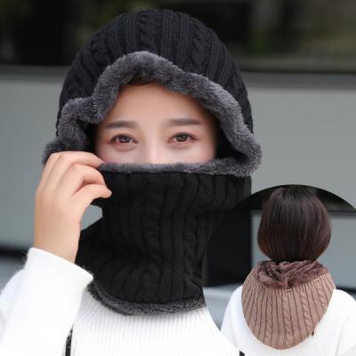 리쭈 겨울 니트 방한 후드넥워머 목토시 모자