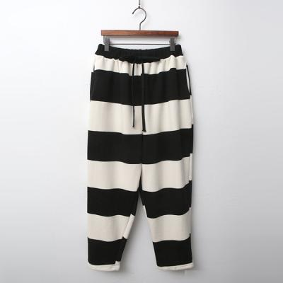 Gimo Twin Stripe Baggy Pants - 기모안감