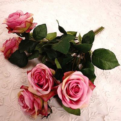 Flower Nuevo ROSE 부쉬 조화 4color 48x20cm