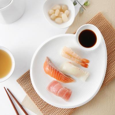 트윈 서빙플레이트 만두 초밥 회 접시(원형)