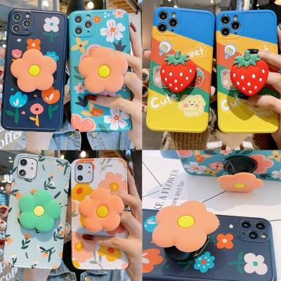아이폰11pro max/프로 스탠딩 플라워/딸기 그립톡/젤