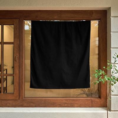 블랭크 블랙 작은창 커튼 / 암막커튼 (RM 296001)