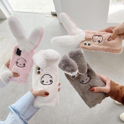 아이폰11 PRO MAX 움직이는 토끼귀 인형 털 퍼 케이스
