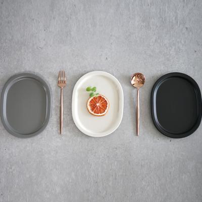 레트로모던 브런치 접시 플레이트 타원2호