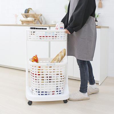 일본생산 욕실 주방 세탁물수납 이동식 트롤리 BELFI