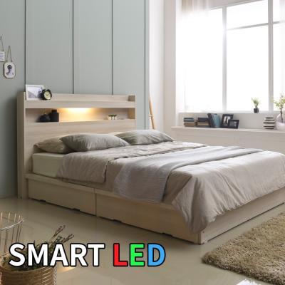 스마트 LED 서랍 침대 퀸 KC171Q