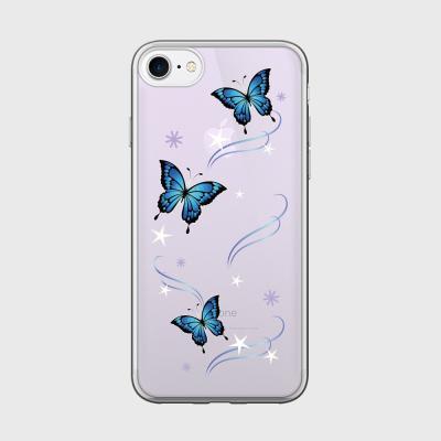 blue butterfly 글로시미러케이스