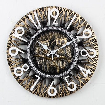 (kriz482)크로바 부엉이 골드시계