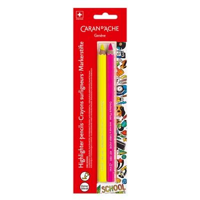 까렌다쉬 스쿨라인 점보 형광 색연필 2색 491.702
