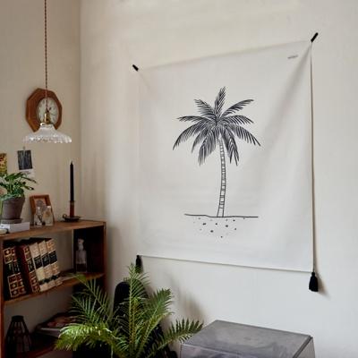 야자수 일러스트 패브릭 포스터 / 가리개 커튼