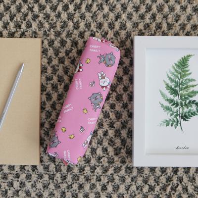 포포팬시 쳐피패밀리 패턴 필통 핑크