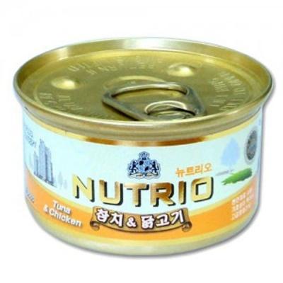 고양이 간식 캔 통조림 뉴트리오 참치 닭고기캔 80g