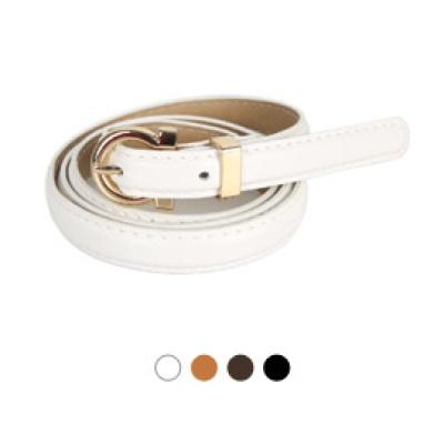 [디꾸보]금장 고리 버클 슬림 여성벨트 GB811
