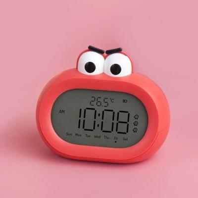 빅마우스 카툰 LCD 탁상시계 무소음 온도 다용도