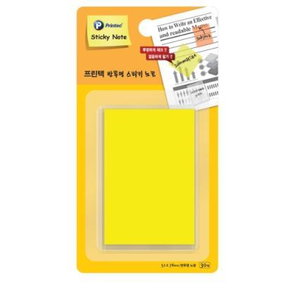 반투명스티키노트 CL5176Y 노랑 (개) 329476