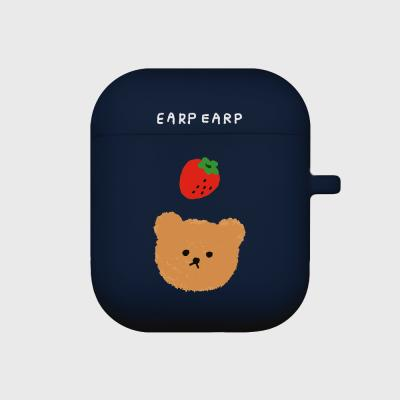 Dot strawberry bear-navy(Air pods)