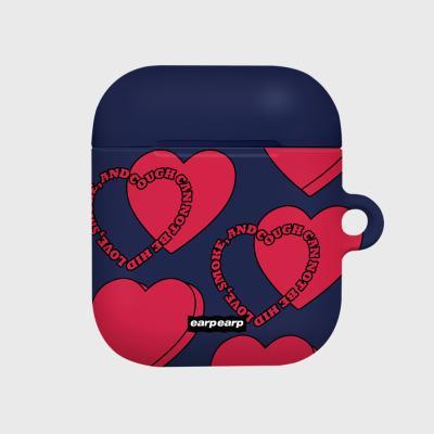 Love Love Love-navy(Hard air pods)