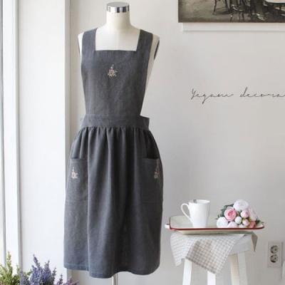 [2HOT] 안젤리 자수 숄더 앞치마