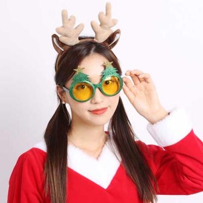 크리스마스 트리안경(글리터 그린)