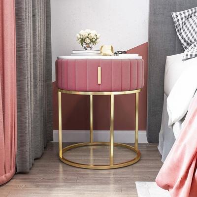 아파트32 홈 골드 철제 마블 드레스 침대 협탁