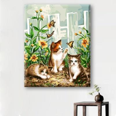 DIY 명화그리기 [ 고양이 삼형제 ] - 40cm*50cm