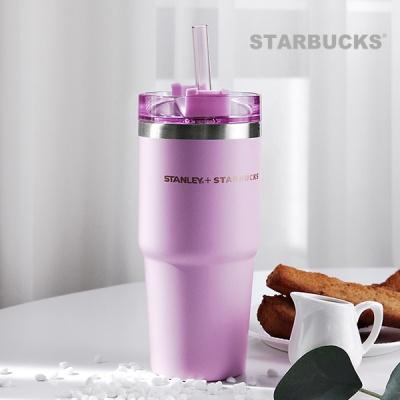 [스타벅스] 스탠리  핑크 빨대 텀블러 473ml