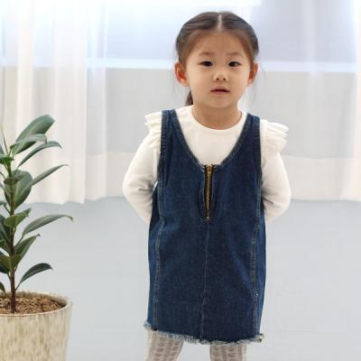 지퍼포인트 유아 데님 수술 일자원피스 2133