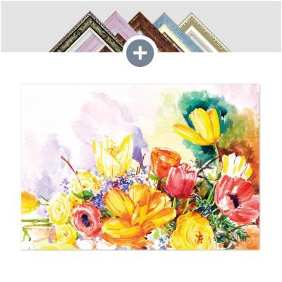 인테리어 캔버스 꽃액자 선인장액자 오색 축제
